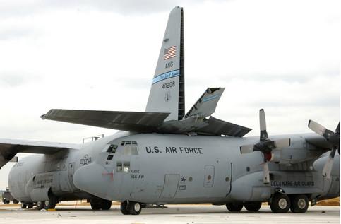 Unfall von zwei Air Forcs Flugzeugen.