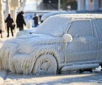 Auto eingefroren