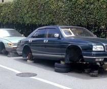 Reifen weg
