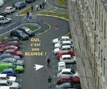 Blond geparkt