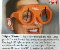 Wischer-Brille