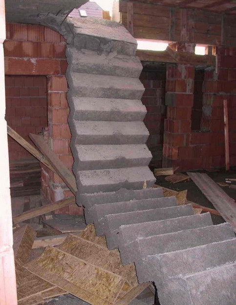 Eine Treppe ist eingestürzt.