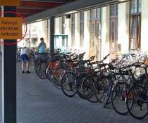 Fahrräder verboten