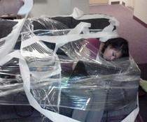 Schlafend eingepackt