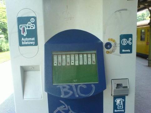 Ein Geldautomat läuft unter Windows und mit Solitär.