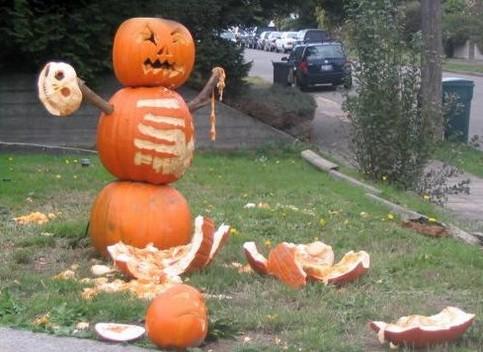 Kürbis-Masaker an Halloween.