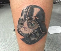 Darth Cat Tattoo