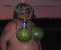 Melonen-Bikini