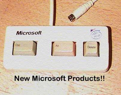 Eine Tastatur mit nur drei Tasten: Strg, Alt, Entf.