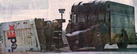 Zwei Pakettransporter hatten einen Unfall