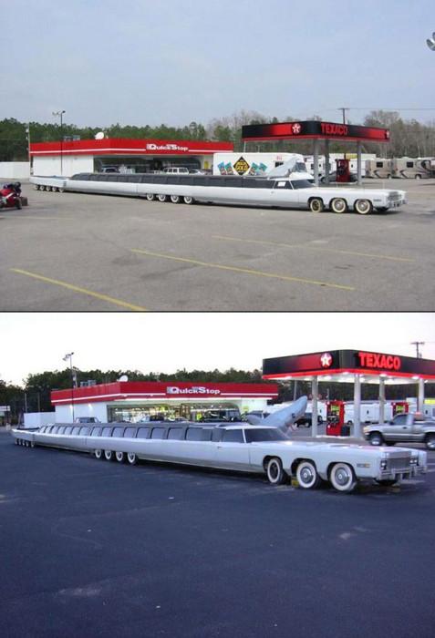Eine unglaublich lange Limousine.