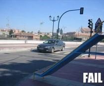 Straßenrutsche