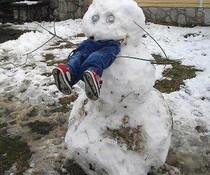 Fressender Schneemann