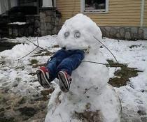 Gefrässiger Schneemann