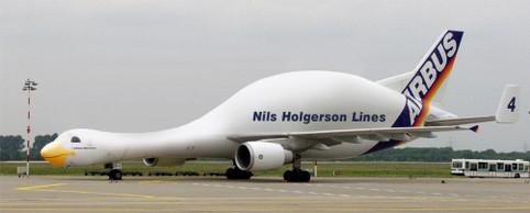 Ein Flugzeug.