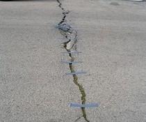 Straße geklebt