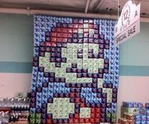 Super-Mario-Bierwand