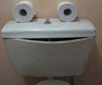 Lachende Toilette