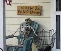 Warten auf die Frau
