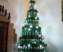 Bier Weihnachtsbaum