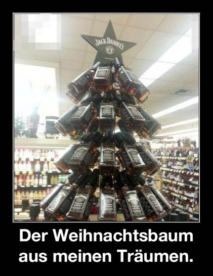 whisky weihnachtsbaum lustiges bild. Black Bedroom Furniture Sets. Home Design Ideas