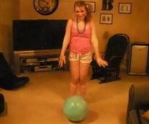 Sprung auf Ball