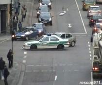 Polizei-Unfall